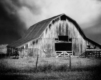 Black And White Pictures Of Old Barns