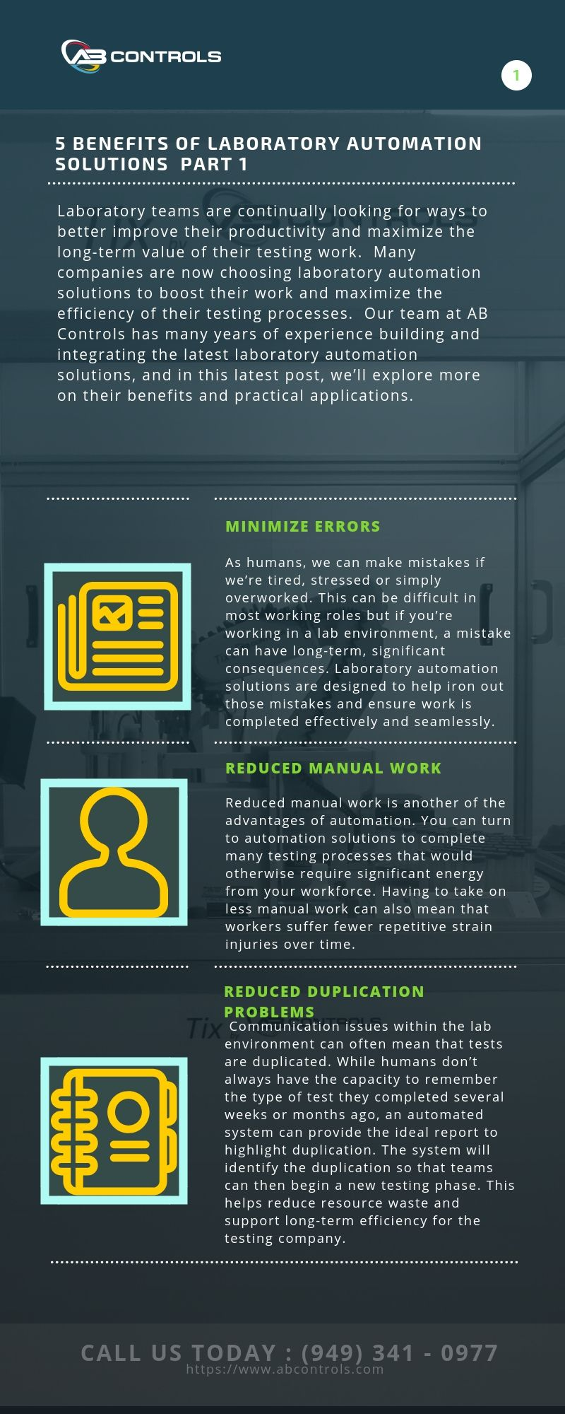 5 Benefits of laboratory automation solutions - Part 1