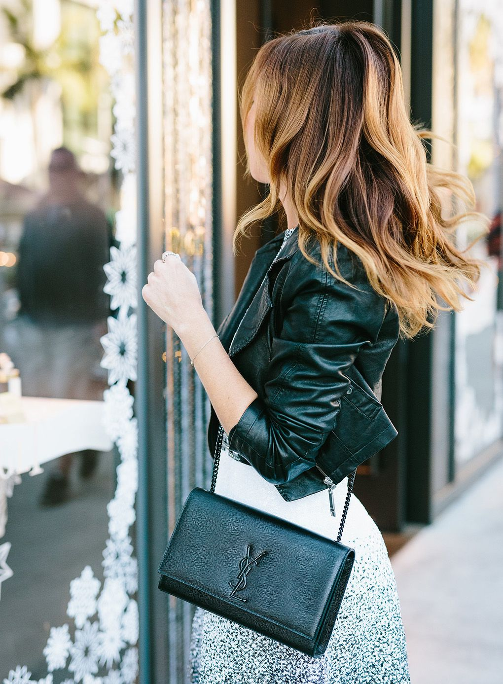 e64c41a80c4a How to style a black YSL bag How To Dress Down Sequins for Holiday Party  Style – Sydne Style