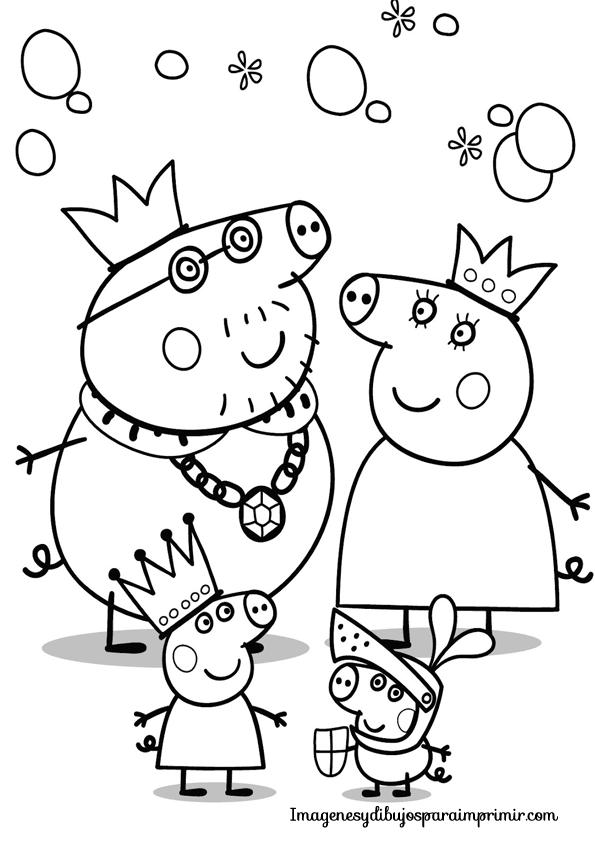 su hermanito George y sus padres: Mummy Pig y Daddy Pig para ...