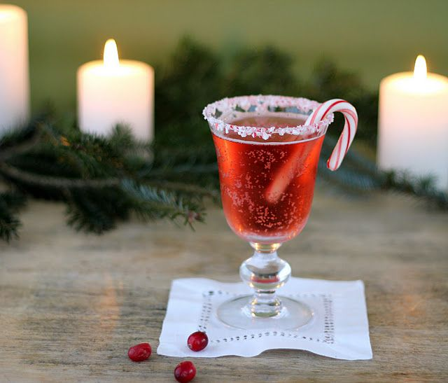 Candy Cane Cranberry Cocktail Christmas Party Ideas Pinterest