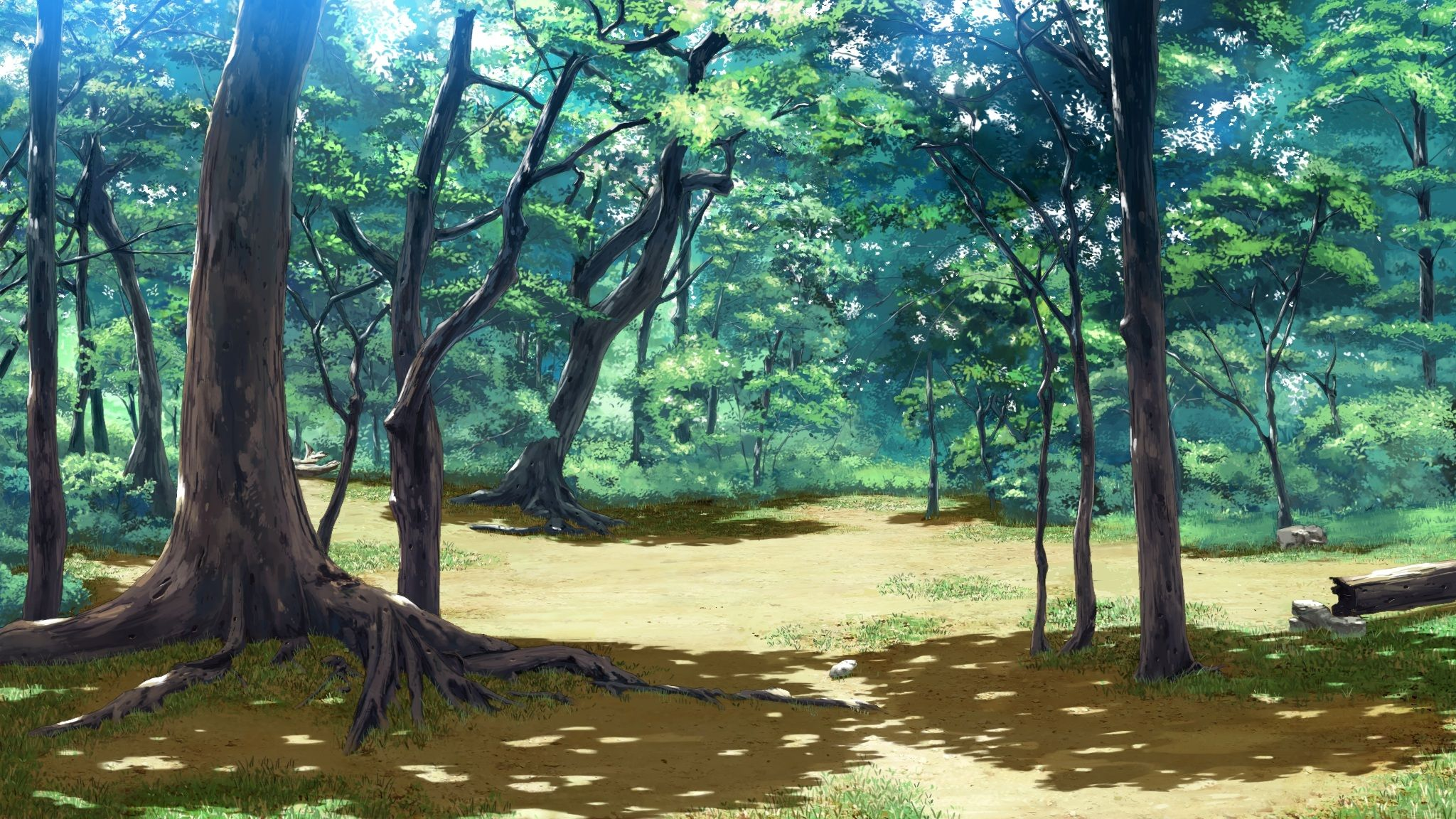 Forest nature anime scenery background wallpaper - Anime forest background ...