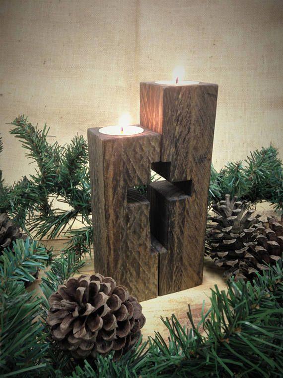 Rustikale Kerzenhalter, Linked, Hochzeitsgeschenk, Unity Candle, Jubiläum, Geburtstage, Hauswärme, Christ, Glaube, Muttertag