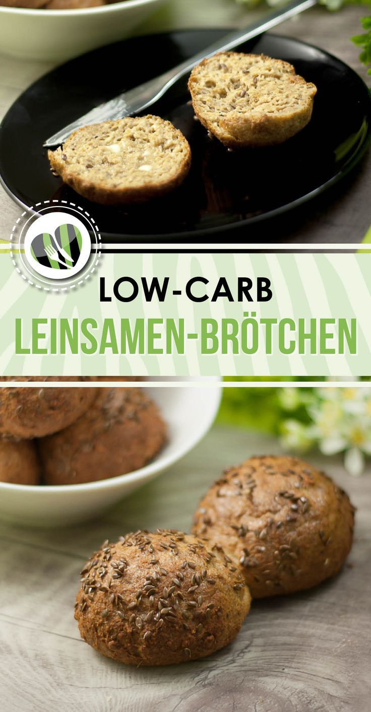 Leinsamen-Brötchen - Low Carb - LCHF - Glutenfrei #flaxseedmealrecipes
