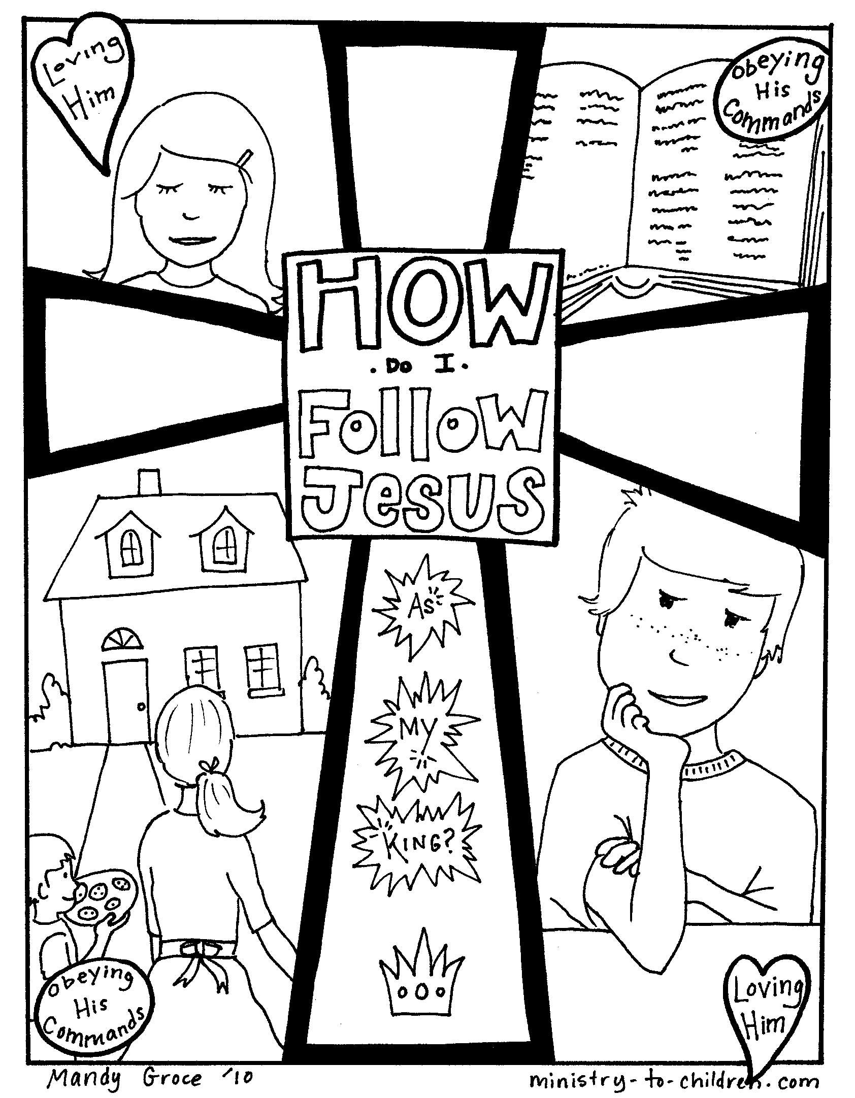 I Will Follow Jesus Colouring Pages Jesus Coloring Pages Bible