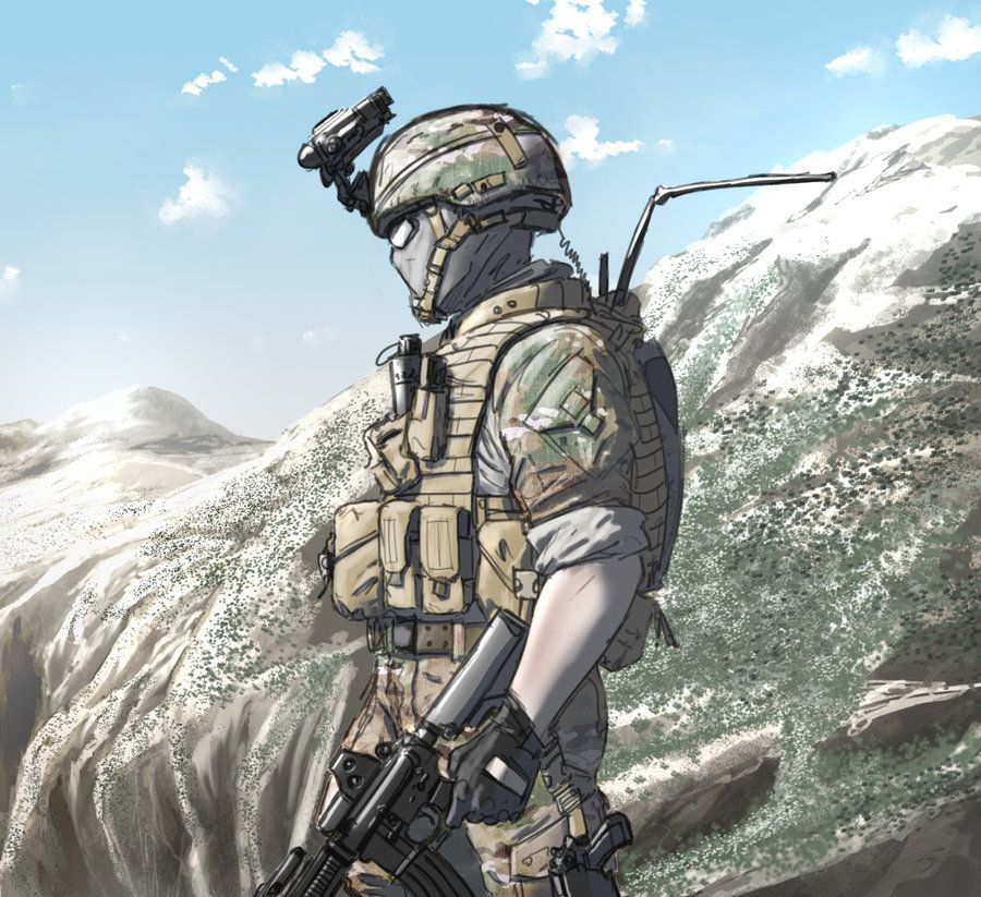Lone Soldier Lone Wolf By Afletcherkinnear Anime Military
