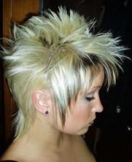 Blond Mullet Hairstyle