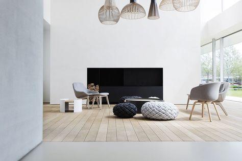 Exclusieve Gietvloer Woonkamer : Gietvloer en parket interiors in house