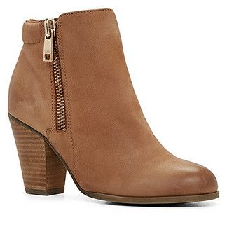 Brown JANELLA booties are always a staple. Wear these beauties with a  simple pair of jeans or casual dress, and rock away at that concert or  birthd…