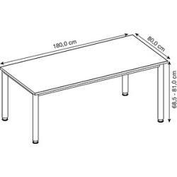 Photo of Hammerbacher Hs19 height-adjustable desk white rectangular HammerbacherHammerbacher