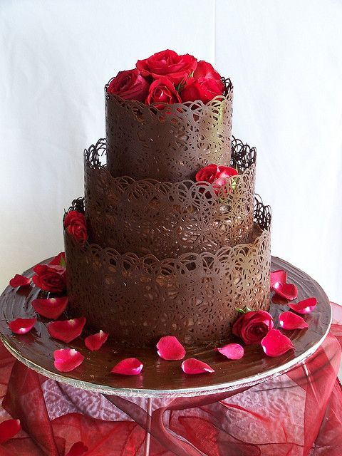 Milk Lace | Chocolate lace cake, Chocolate garnishes, Cake ...