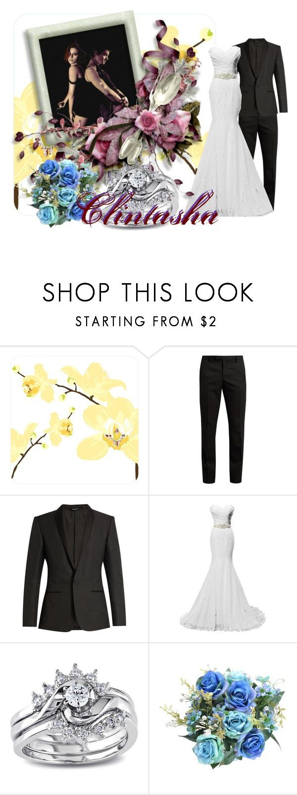"""""""Clintahsa Wedding"""" by wannabefamous212 ❤ liked on Polyvore featuring Yves Saint Laurent, Dolce&Gabbana and Miadora"""