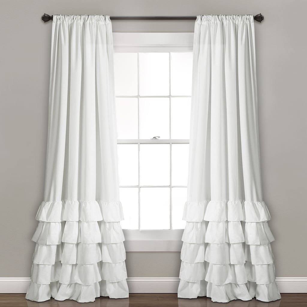 Lush Decor 2 Pack Allison Ruffle Window Curtains 40 X 84