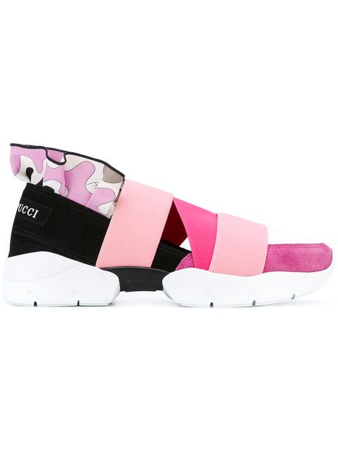 Emilio Pucci strap trainers. | Poing