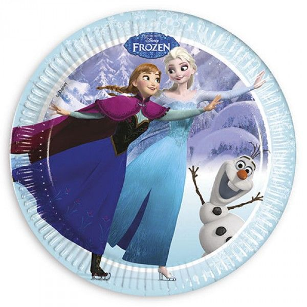 Frozen Ice Skating Paper Plates