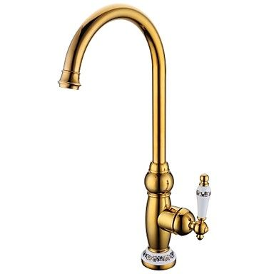 Antique Tipvd Finish Brass One Hole Single Handle Deck Mounted Stunning Single Handle Kitchen Faucet Decorating Design
