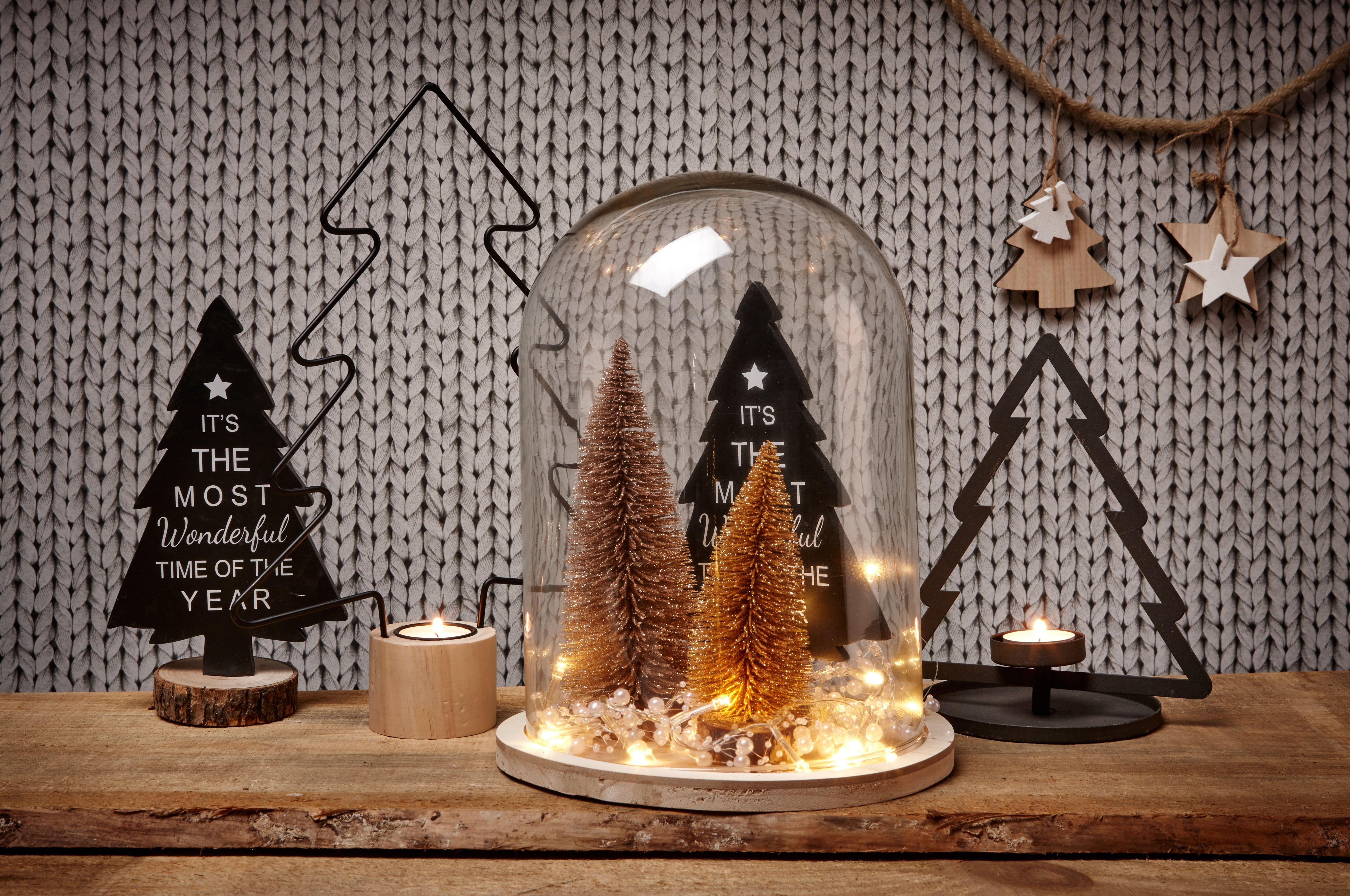 16x Neutrale Kerstdecoraties : Zet je kerstdecoratie en verlichting eens onder een stolp! #kerst