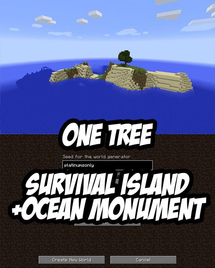 Survival Island Seed:platinumsonly (Minecraft PC/Mac)