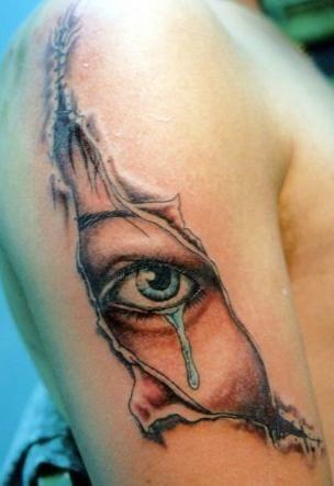 Eye under the skin tattoo nice tattoo pinterest for Under the skin tattoo