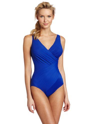 6a9c3027335 Miraclesuit Must Haves Oceanus Soft Cup Electric Blue Miracle Swim Suit  $232.00 Amazon