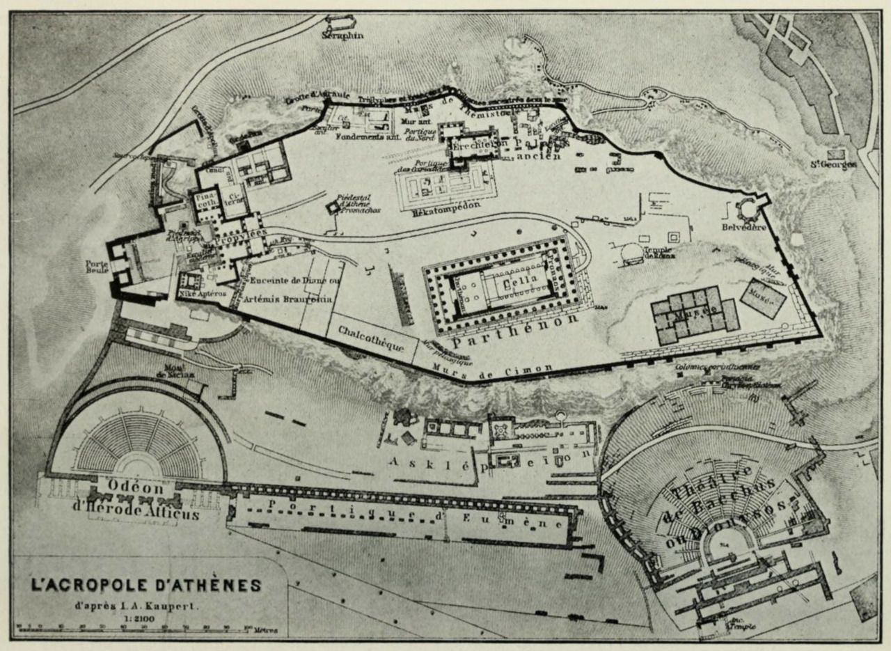 Plan Of The Acropolis Athens Map Planning Maps Old Maps