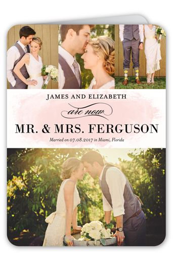 Married Name 5x7 Folded Wedding Announcement Cards in 2018