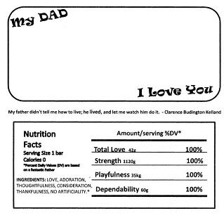 FatherS Day Candy Bar Wrapper  Lds    Candy Bar