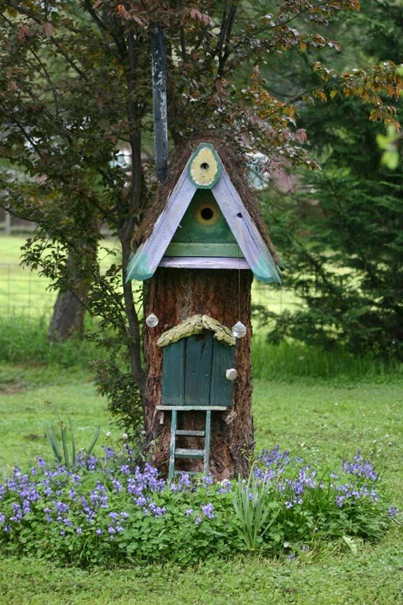 Gnome Tree Stump Home: Gnome Home-such An Adorable Use Of A Tree Stump!