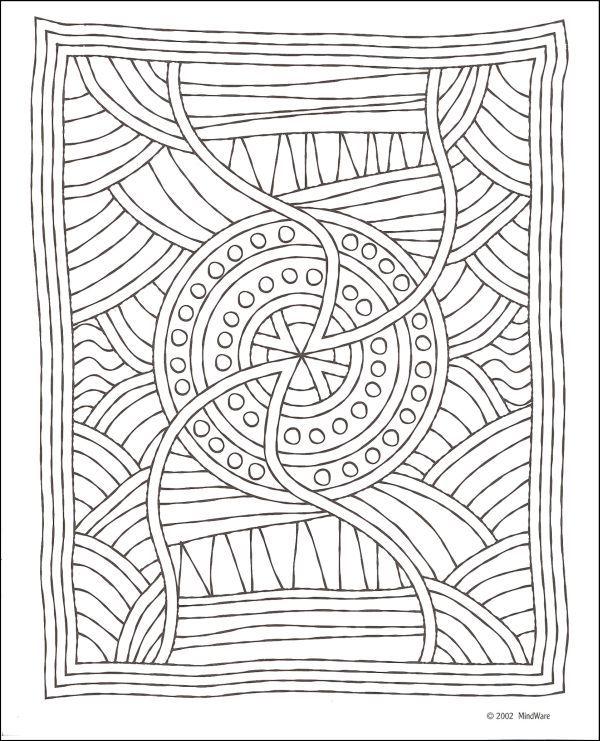 Aboriginal Mosaics Coloring Book, mosaic pattern