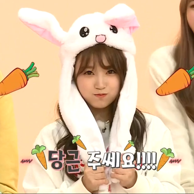 Iz One Yabuki Nako Bunny Ear Hat Idol Room Bunny Hat Cute Korean Izon