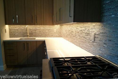 Details About Kitchen Under Cabinet Waterproof Lighting Kit Warm White Soft Led Light Strip Kitchen Led Lighting