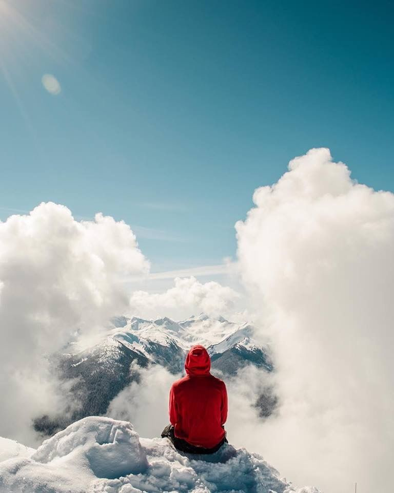 It's Whistler, British Columbia, Canada. At the peak