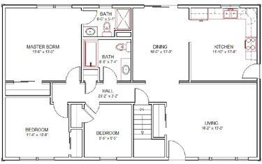 Split Bedroom Ranch House Plans Aha594 Fr Re Bl Lggif Recently