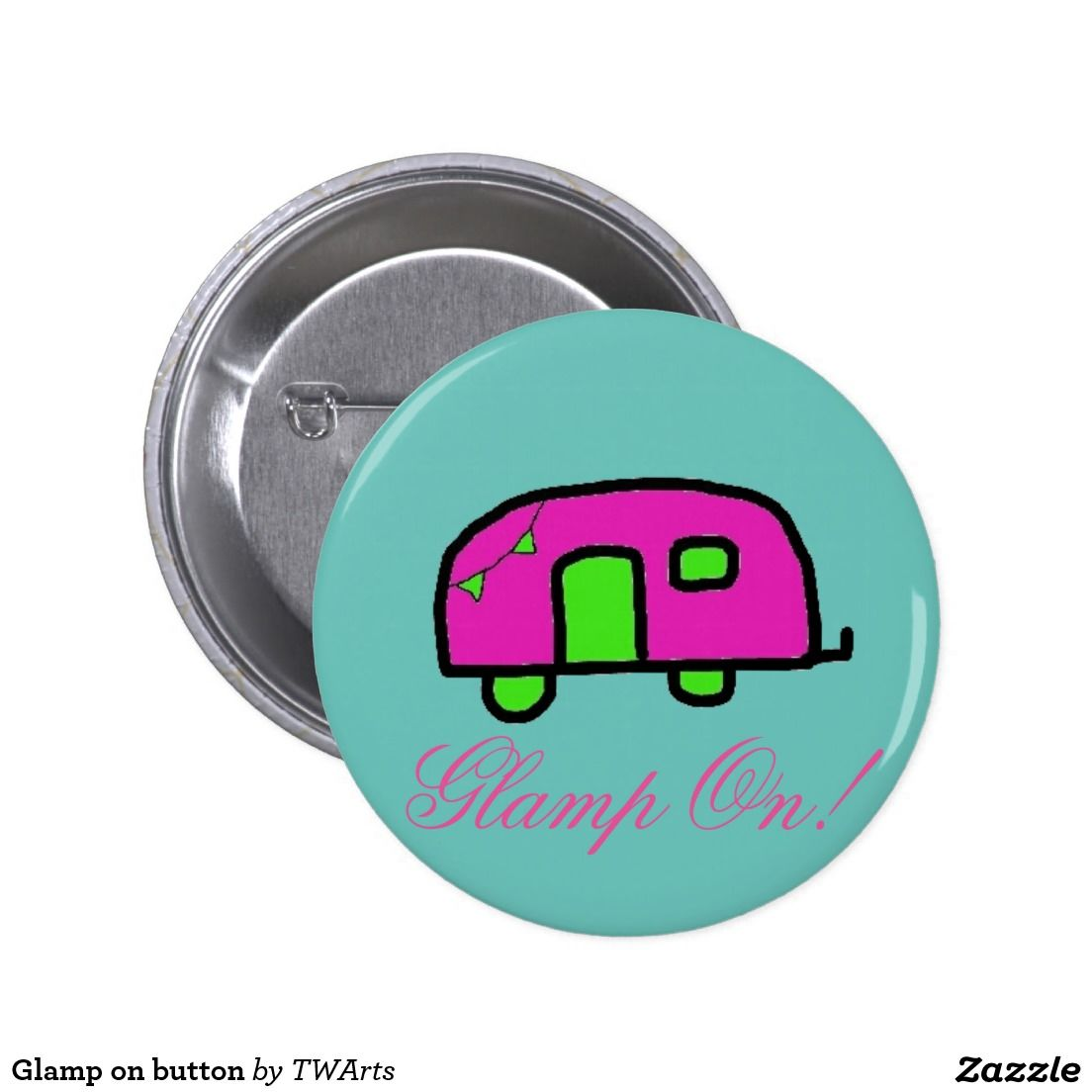 Glamp on button