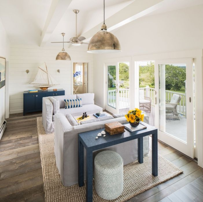 Modern Coastal, Beach House, Seaside, Oceanside, Coastal Cottage, Living  Room,