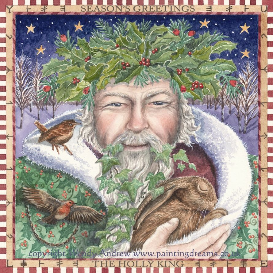 The Holly King By Wendy Andrew Blessed Be Pinterest Yule