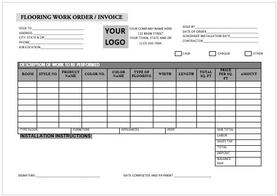 Carpetinstallationinvoicetemplate6 Carpet Installation Invoice