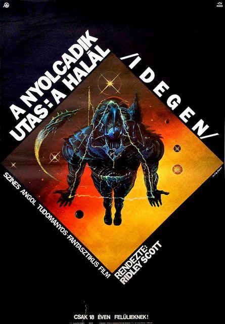 Alien (Hungarian Poster) 1979 by Aeron Alfrey, via Flickr