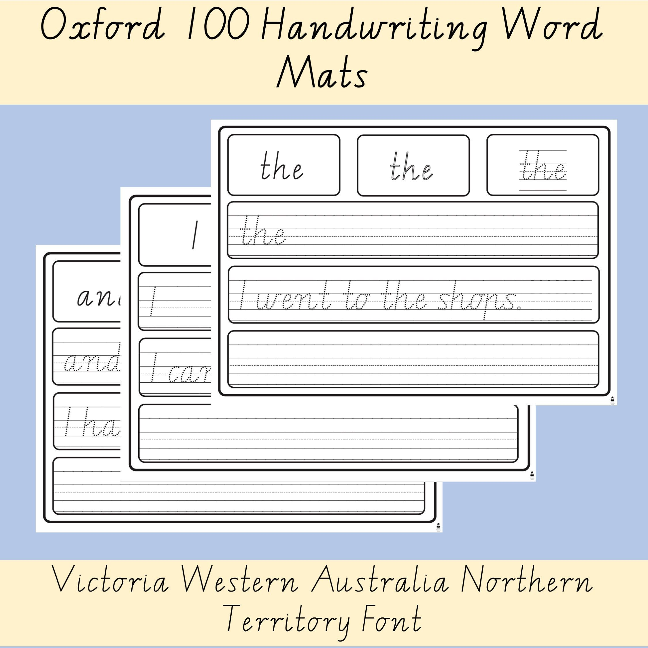 Oxford 100 High Frequency Words Handwriting Worksheets List Vic Wa Nt Font High Frequency Words Teaching Sight Words Words [ 2249 x 2249 Pixel ]