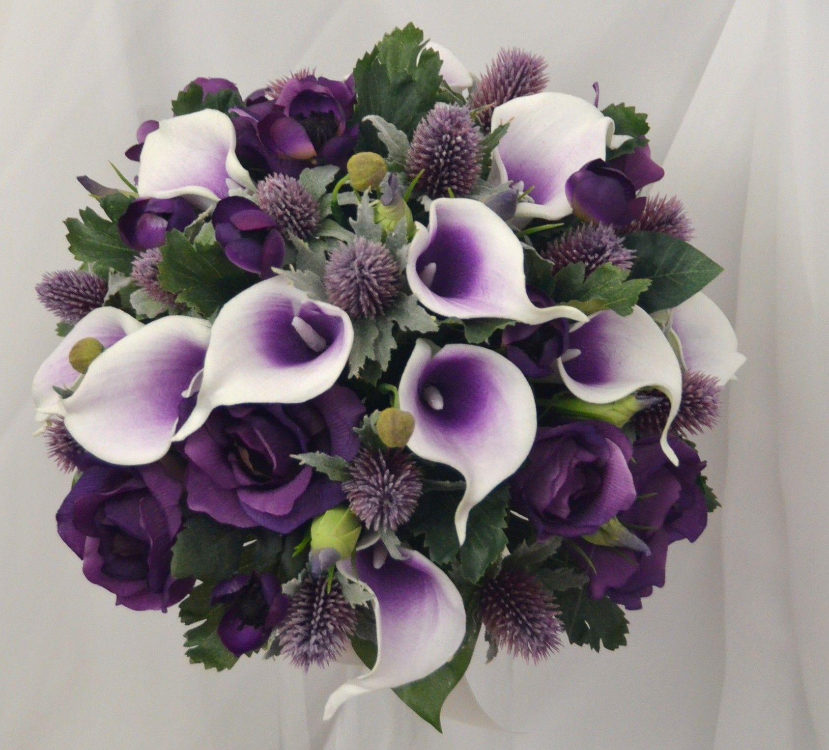 Purple bridal posy greenpurple flower wedding arrangement purple bridal posy izmirmasajfo