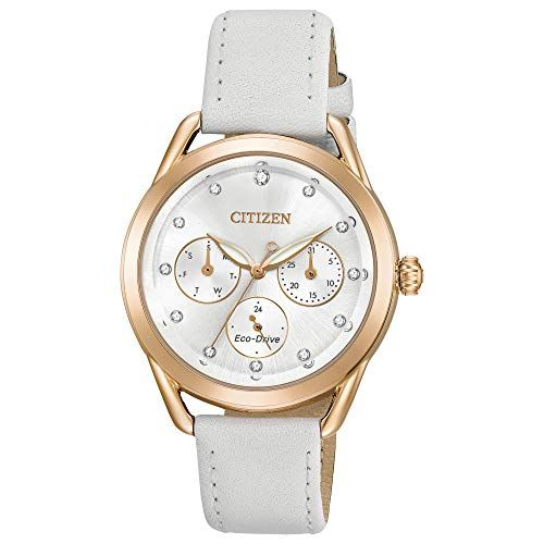 Citizen Womens Drive Quartz Stainless Steel and Leather Casual Watch ColorWhite Mode