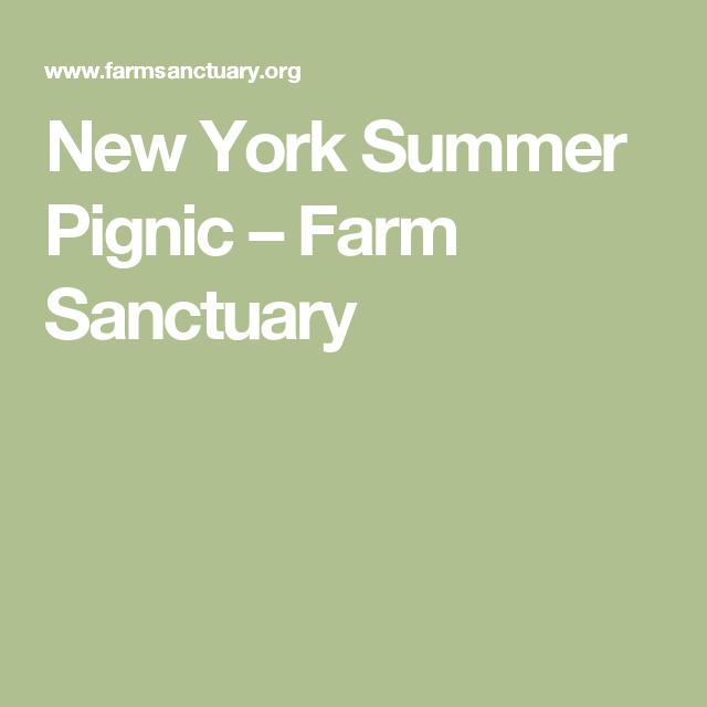 New York Summer Pignic Farm Sanctuary With Images New York Summer Farm Sanctuary New York