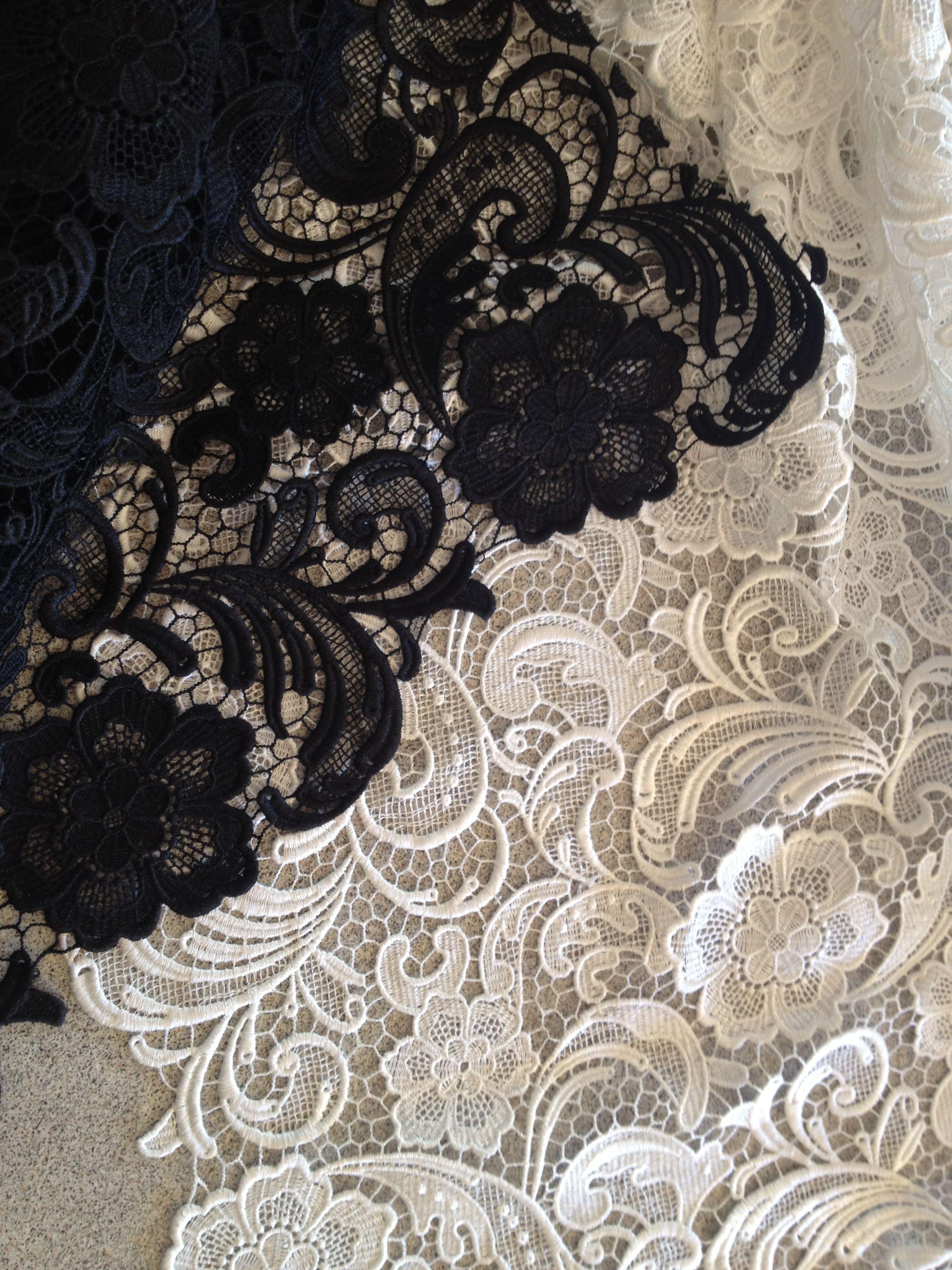 Black & White lace..