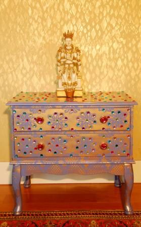 India inspired bedside table #india #decor #bedside