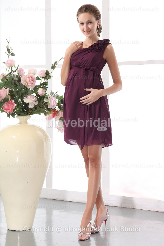 Short maternity wedding dresses  Maternity Chiffon Simple Bridesmaid  bridesmaid dress  Pinterest