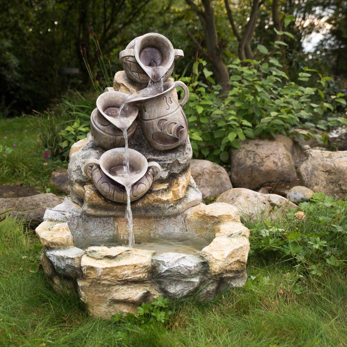 Stilista Gartenbrunnen Zierbrunnen Kruge 70 X 83 X 75 Cm Springbrunnen Garten Gartenbrunnen Brunnen Garten