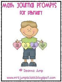 Mrs Jump's class: Math Journal Prompts FREEBIE!
