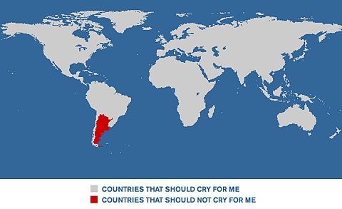 Argentina doesn't cry for me.