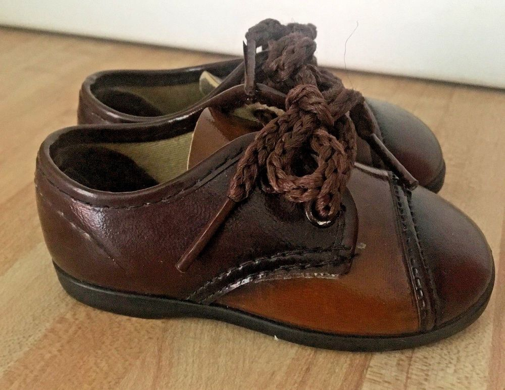 36fbd5291155e Vintage Robinson Crusoe Baby Boy Brown Oxford Shoes Size 2 #RobinsonCrusoe