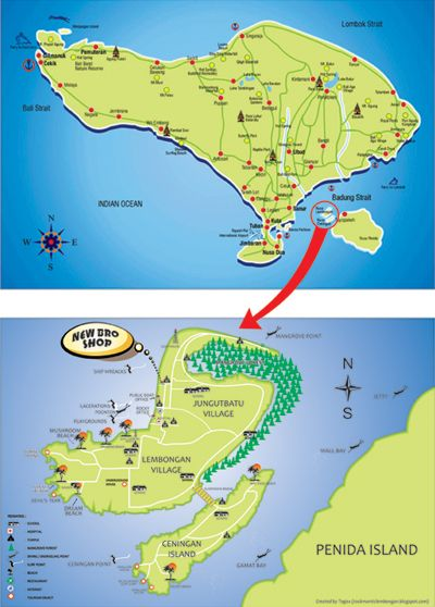 Nusa Lembongan Map Pin by Lembongan Guide on Map of Lembongan | Bali, Bali lombok